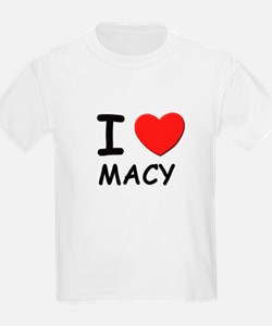 I love Macy Kids T-Shirt