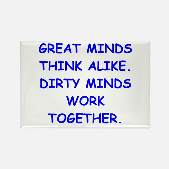 dirty minds Rectangle Magnet (10 pack)