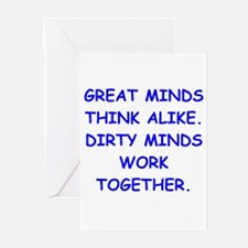 dirty minds Greeting Cards (Pk of 10)