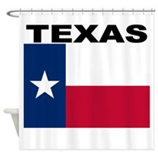 Texas State Flag Shower Curtain