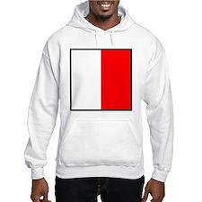Nautical Flag Code Hotel Hoodie
