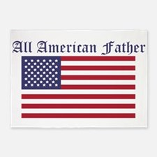 All American Father 5'x7'Area Rug