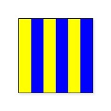 Nautical Flag Code Golf Sticker