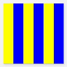 """Nautical Flag Code Golf Square Car Magnet 3"""" x 3"""""""