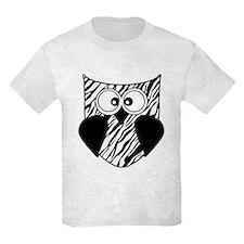 Zebra Striped Hoot Owl T-Shirt