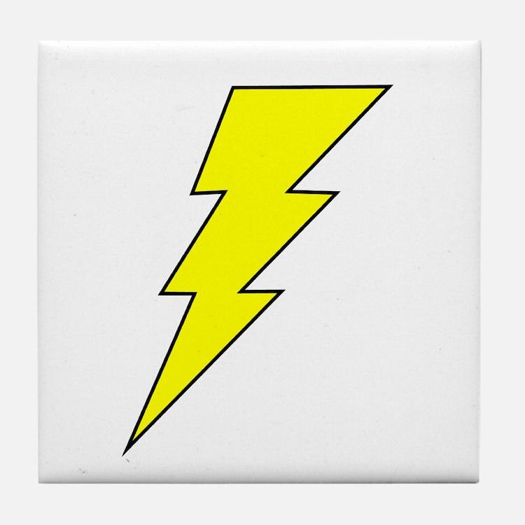The Lightning Bolt 8 Shop Tile Coaster
