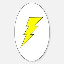 The Lightning Bolt 8 Shop Oval Decal