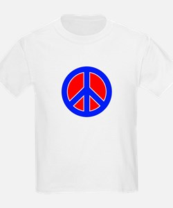 Red White and Blue Peace Sign T-Shirt