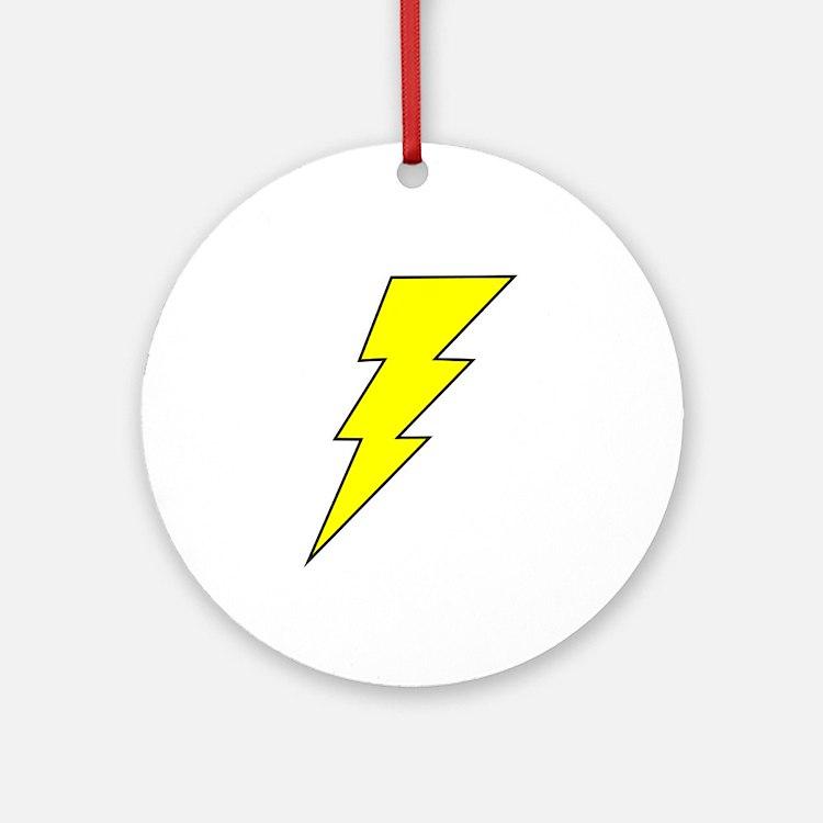 The Lightning Bolt 8 Shop Ornament (Round)