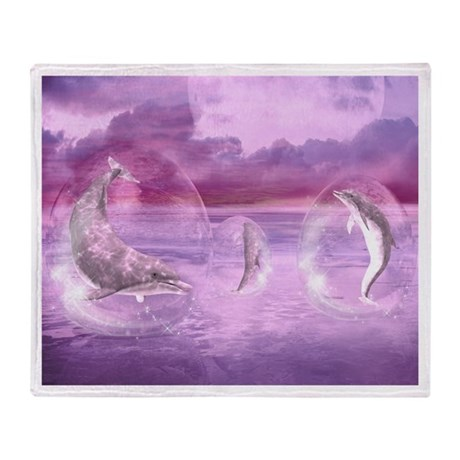 Dream Of Dolphins Throw Blanket