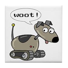 Robot Dog Tile Coaster