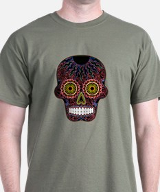 CANDY SKULL-AUTUMN-1-2-glowing T-Shirt