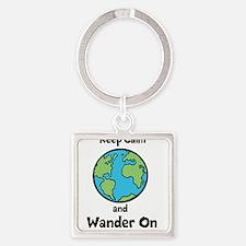 Keep Calm, Wander On Keychains