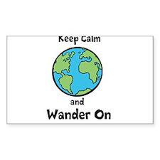 Keep Calm, Wander On Decal