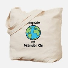 Keep Calm, Wander On Tote Bag