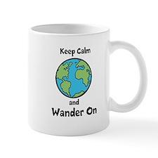 Keep Calm, Wander On Mug