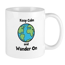 Keep Calm, Wander On Mug