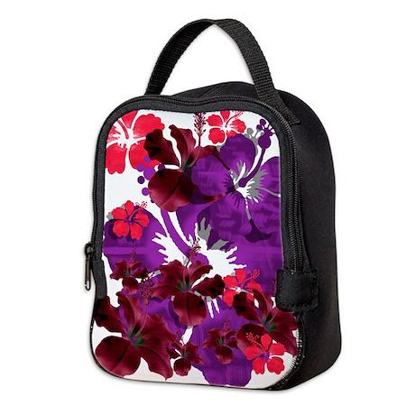 Hibiscus Neoprene Lunch Bag