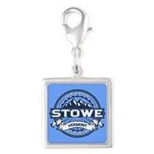 Stowe Blue Silver Square Charm