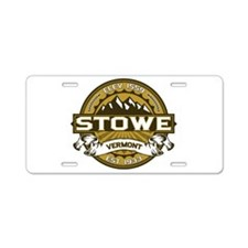 Stowe Wheat Aluminum License Plate