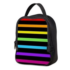'Neon Rainbow' Neoprene Lunch Bag