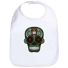CANDY SKULL-Green Hawiian Shirt Bib