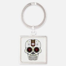 CANDY SKULL-Hawiian Shirt-ghost outline Keychains