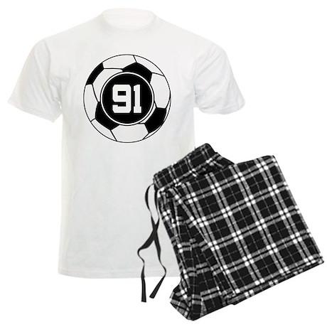 Soccer Number 91 Player Men's Light Pajamas