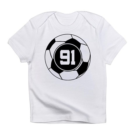 Soccer Number 91 Player Infant T-Shirt