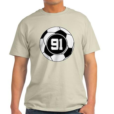 Soccer Number 91 Player Light T-Shirt