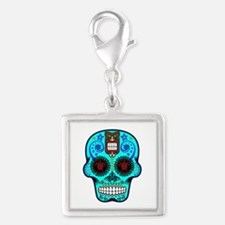 CANDY SKULL-Light Blue Hawiian Shirt Charms