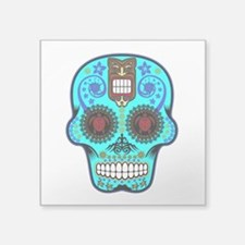 CANDY SKULL-Light Blue Hawiian Shirt Sticker