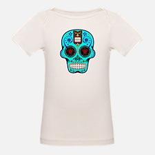 CANDY SKULL-Light Blue Hawiian Shirt T-Shirt