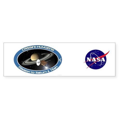 Cassini Saturn Bumper Sticker