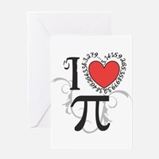 I heart Pi Greeting Card