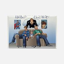 Mind the Comic Nerd Babies Rectangle Magnet (100 p