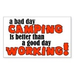Bad Day Camping Rectangle Sticker