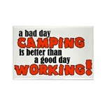 Bad Day Camping Rectangle Magnet