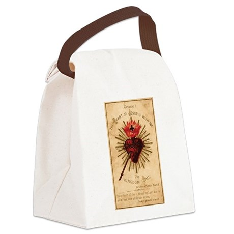 Sacred Heart of Jesus Canvas Lunch Bag