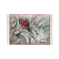 Sandhill Crane! Bird art Rectangle Magnet