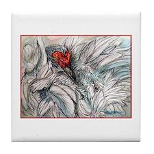 Sandhill Crane! Bird art Tile Coaster