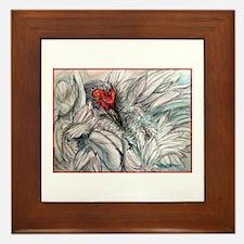 Sandhill Crane! Bird art Framed Tile