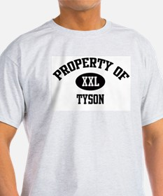 Property of Tyson Ash Grey T-Shirt
