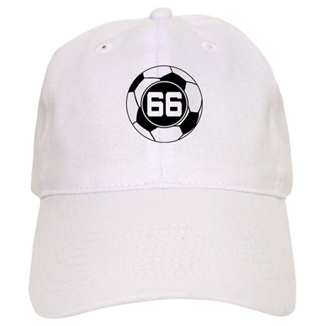 Soccer Number 66 Player Cap