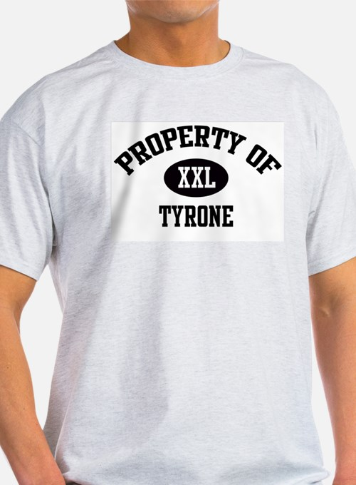 Property of Tyrone Ash Grey T-Shirt