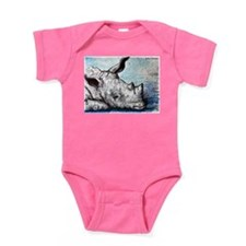 Rhino! Wildlife art! Baby Bodysuit