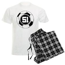 Soccer Number 51 Player Pajamas