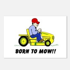 Born To Mow Postcards (Package of 8)