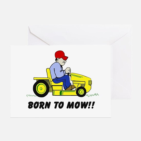 Born To Mow Greeting Card