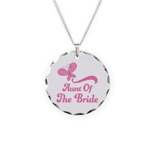 Aunt of the Bride Butterfly Necklace